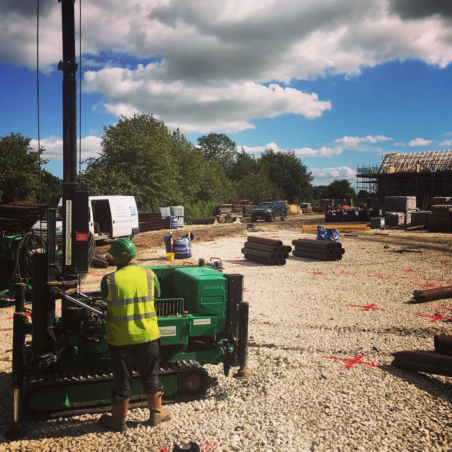 Driven Piling for New Builds | Optima Foundations