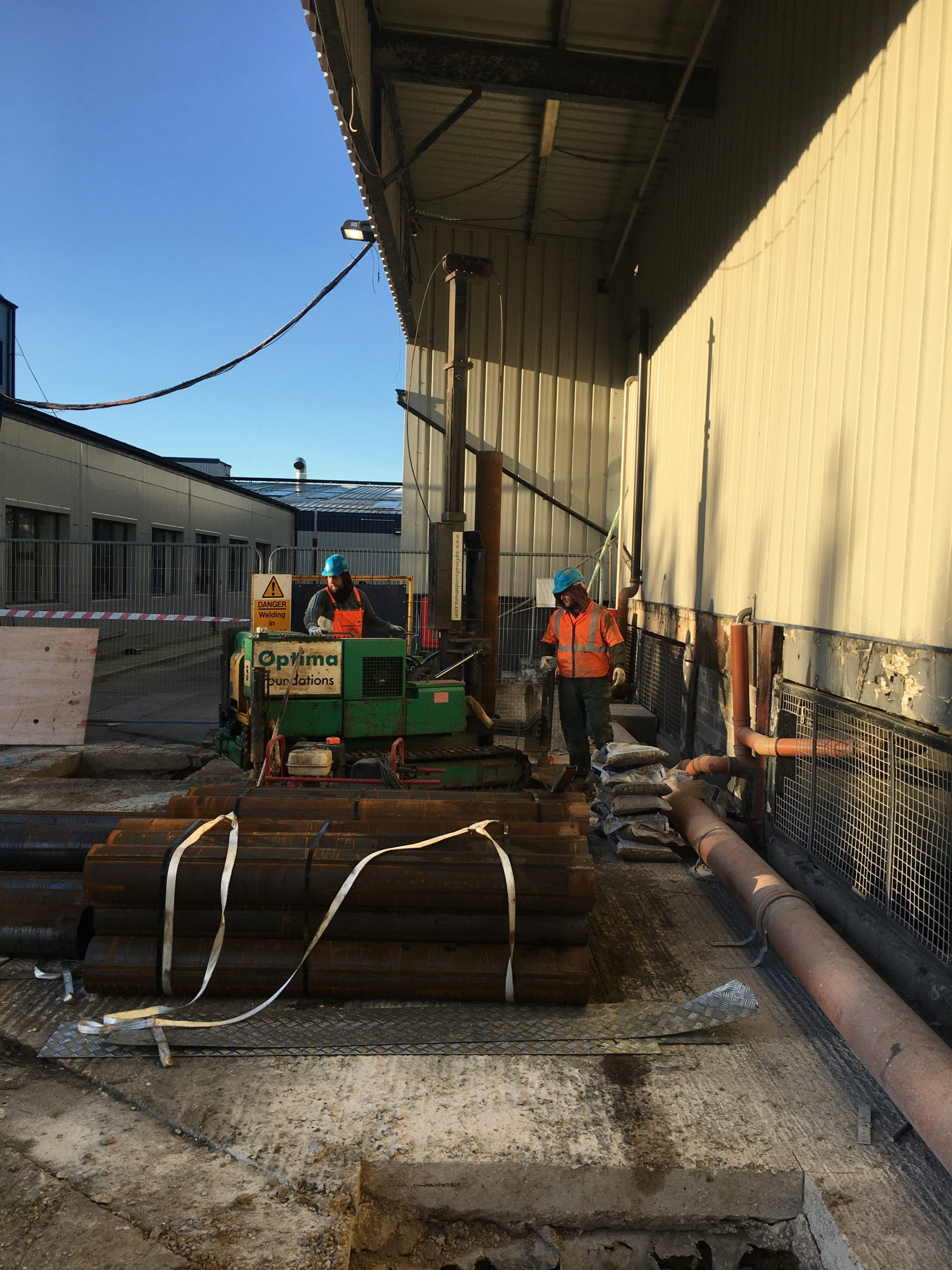 Driven Piling for Industrial Extension | Optima Foundations