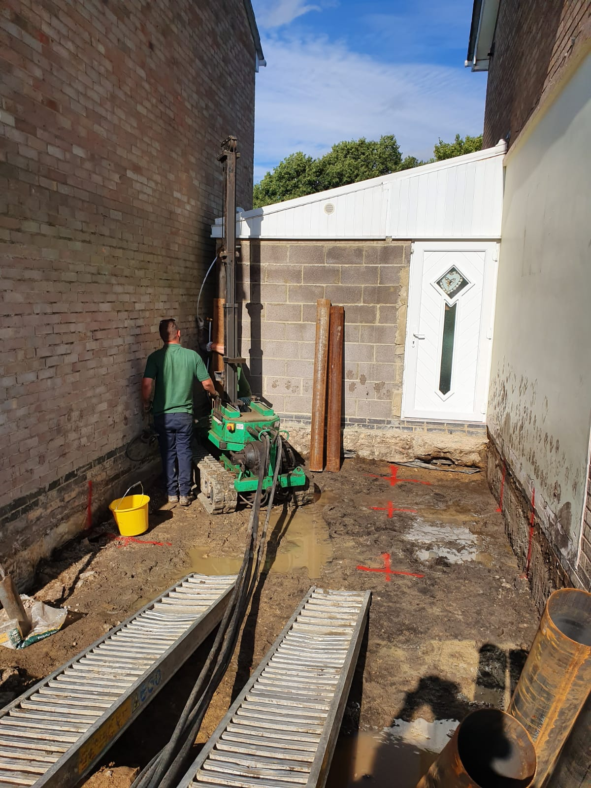 Driven Piling for Extension | Optima Foundations